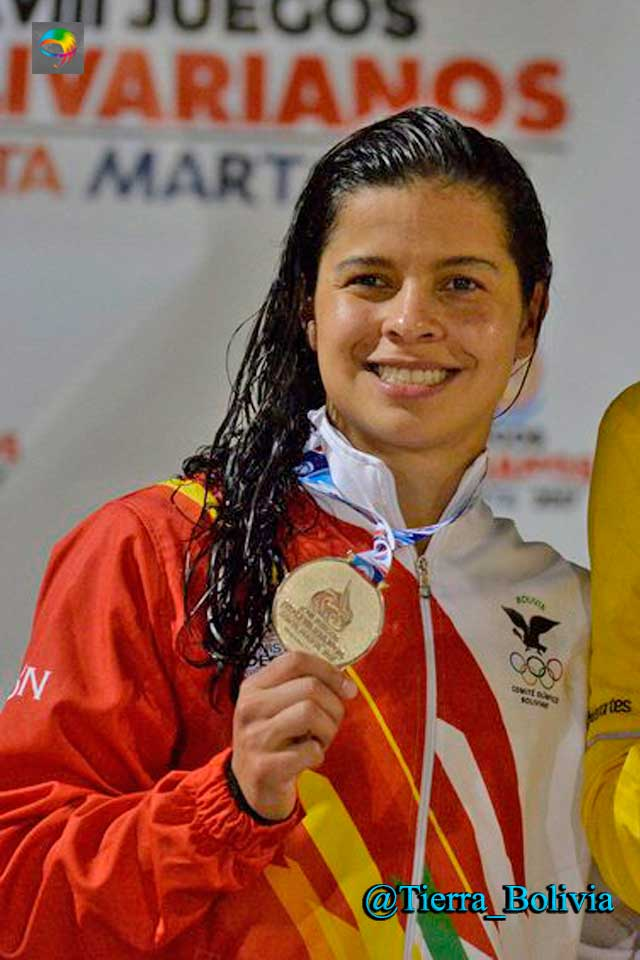 Colombia: nadadora Karen Torrez, consiguió histórica medalla de oro para Bolivia en los Juegos Bolivarianos